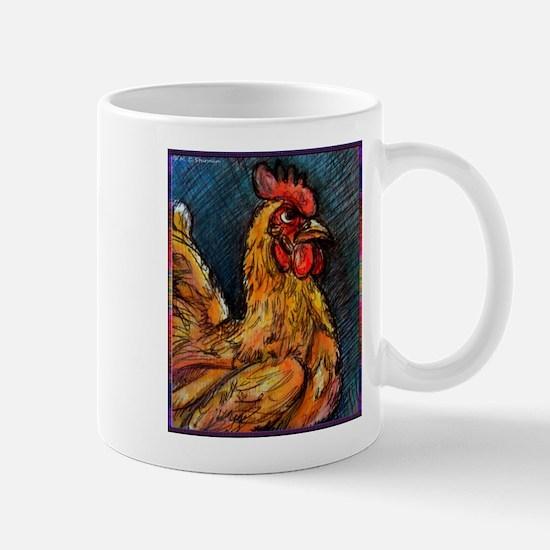 Chicken! Barnyard bird art! Mug