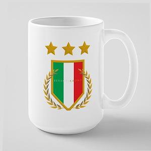 JuventiKNOWS Triple Star Scudetto Shield Large Mug
