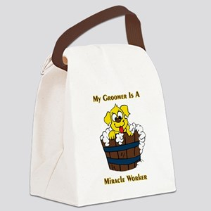 My Groomer is a Miracle Worker Canvas Lunch Bag