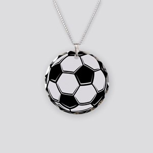 Soccer Ball Necklace Circle Charm