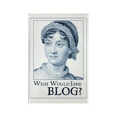 Jane Austen BLOG Rectangle Magnet