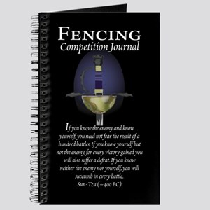 Fencing Competition Blank Journal