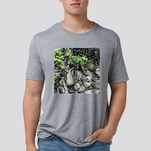 Rocks, Roots and Leaves Mens Tri-blend T-Shirt