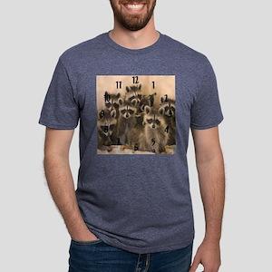 Raccoon wall clock Mens Tri-blend T-Shirt