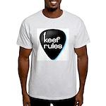 Keef Rules Guitar Pick - Ash Grey T-Shirt