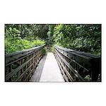 Bridge in the Bamboo For Sticker (Rectangle 50 pk)