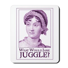 Jane Austen JUGGLE Mousepad