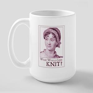 Jane Austen KNIT Large Mug