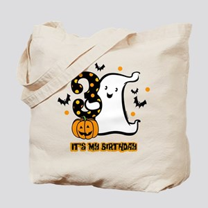 Little Ghost 3rd Birthday Tote Bag