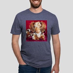 Shylow Dachshund Dog Mens Tri-blend T-Shirt