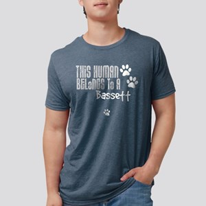 bassett-dark Mens Tri-blend T-Shirt