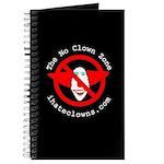 The No Clown Zone Logo Writing Journal