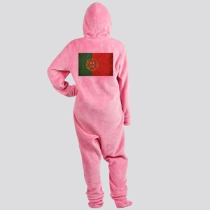 Vintage Portugal Flag Footed Pajamas