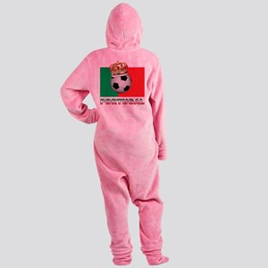 Portugal Football Footed Pajamas