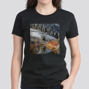 Winter river Women's Dark T-Shirt