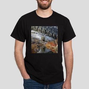 Winter river Dark T-Shirt