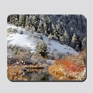 Winter river Mousepad