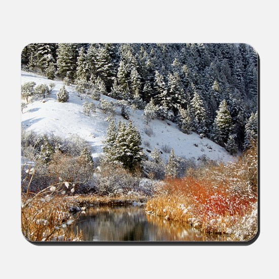 Winter river Mousepad