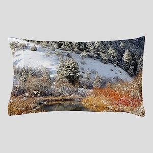 Winter river Pillow Case