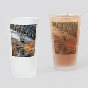 Winter river Drinking Glass