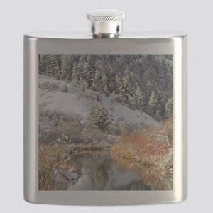 Winter river Flask