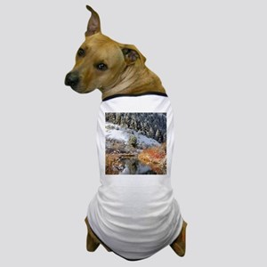 Winter river Dog T-Shirt