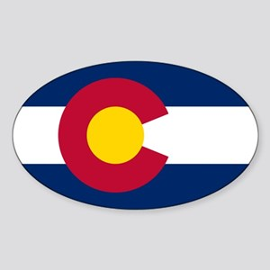 Colorado flag Sticker (Oval 10 pk)