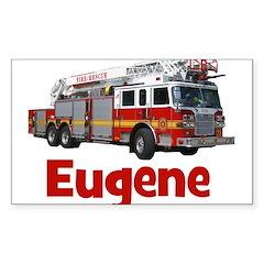 EUGENE - FIRE TRUCK - CUSTOM NAME Decal