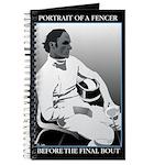 Portrait of a Fencer Blank Journal