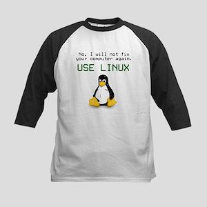 Use Linux Kids Baseball Jersey