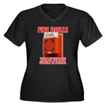 Fire Drills Women's Plus Size V-Neck Dark T-Shirt
