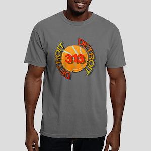 Detroit 313 bball trans. Mens Comfort Colors Shirt