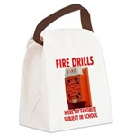 Fire Drills Canvas Lunch Bag