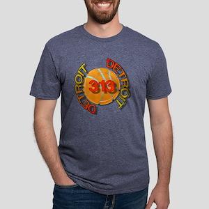 Detroit 313 bball trans Mens Tri-blend T-Shirt