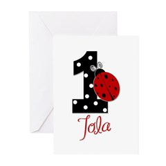 1_ladybug_birthdaygirl_TOLA.png Greeting Cards (Pk