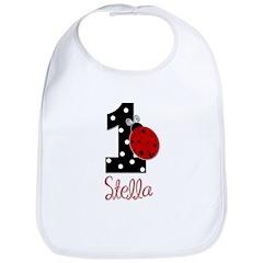 1st Birthday Ladybug - STELLA - Custom Bib