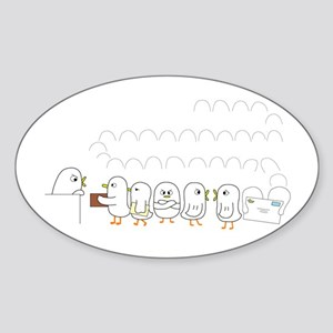 Post Office at Holiday Season Sticker (Oval)