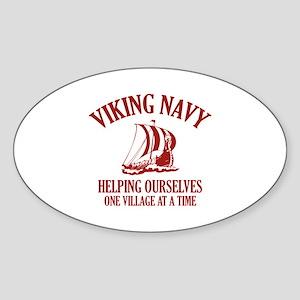 Viking Navy Sticker (Oval)