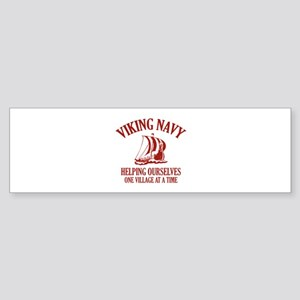 Viking Navy Sticker (Bumper)