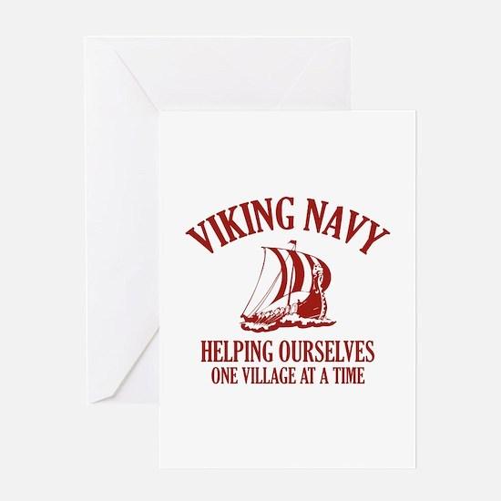 Viking Navy Greeting Card