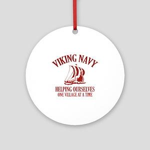Viking Navy Ornament (Round)