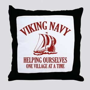 Viking Navy Throw Pillow