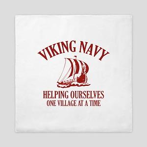 Viking Navy Queen Duvet