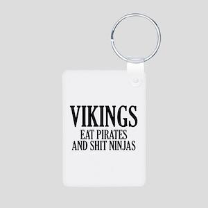 Vikings eat Pirates and shit Ninjas Aluminum Photo