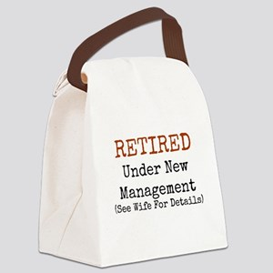 Retired See Wife for Details Canvas Lunch Bag