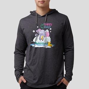 Happy Elephant Mens Hooded Shirt
