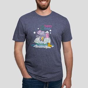 Happy Elephant Mens Tri-blend T-Shirt