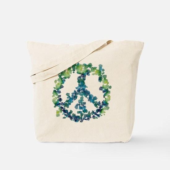 Meditation Flower Peace Tote Bag