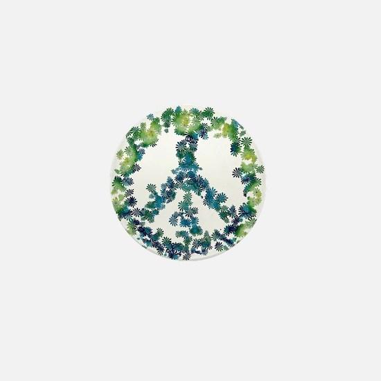 Meditation Flower Peace Mini Button