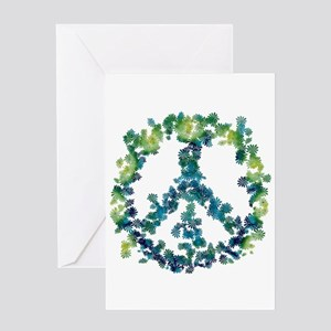Meditation Flower Peace Greeting Card